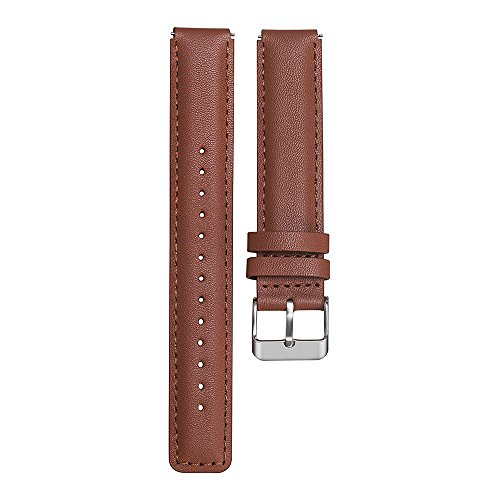 Armband für Huawei Talkband B3 Ersatz-Uhrenband, echtes Leder, Vintage-Stil, für Herren/Frauen Armbanduhr mit Edelstahlschnalle Uhrenarmband Lederarmband Ersatband (Braun)