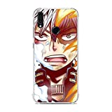 KeepAAA Clear Coque Transparent Anti-Scratch Anti-Yellowing TPU Cover Soft Case for Huawei Y9 Prime 2019/P Smart Z-My Hero-Academia Anime 3