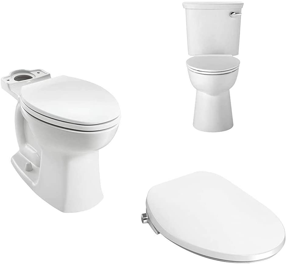 American Standard 3519A101.020 Edgemere Right Height Elongated Toilet with 5900A05G.020 Aquawash 1.0 Manual Spalet Bidet Seat