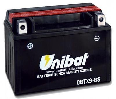 BATTERIA MOTO SCOOTER UNIBAT NO YUASA CBTX9-BS