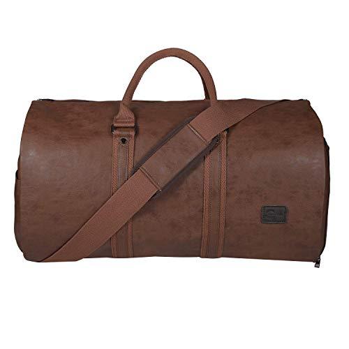 Die Kleidertasche, die wasserdichter Herren- Kleidertasche für Reisen, Geschäfts, große Leder Reisetasche, mit den Schuhtaschen, braun.