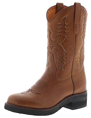 Sendra Boots Damen Cowboystiefel 11615 Mostaza Westernreitstiefel Lederstiefel Braun 39 EU