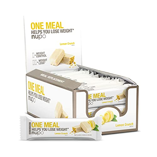 NUPO One Meal Bar – Lemon Crunch I Leckerer Mahlzeitersatz-Riegel zum Abnehmen I 24 x 60g I Enthält Nährstoffe, Vitamine und Mineralien