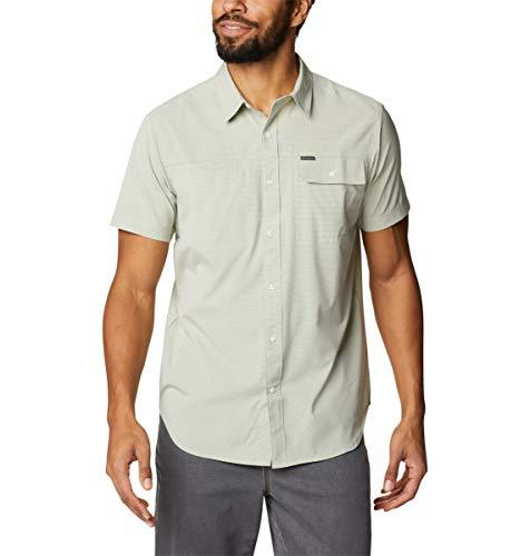 Columbia Men's Viewmont Stretch Short Sleeve, Safari Stripe, Large