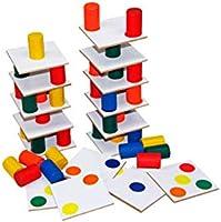 Carlu Brinquedos - Torre Inteligente Jogo de Madeira, 4+ Anos