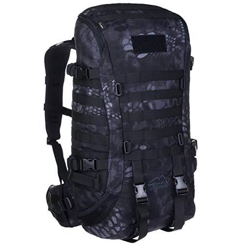 Wisport Armee Rucksack Camouflage Damen Herren + inkl. E-Book | Militär | Army Backpack groß | taktischer Kampfrucksack für Frauen Männer | Einsatz | 40 L | Cordura | Kryptek Typhon | Zipperfox