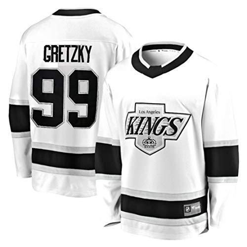 Carrey Eishockey-Trikot,Herren-Sweatshirt,atmungsaktiv,lange Ärmel, Hip-Hop-Kleidung für Party,gestickte Buchstaben und Zahlen,Sweatshirt,Filmversion Hockey-Fan-Kostüm,Small, #99