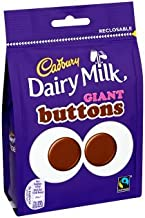 Cadbury Dairy Milk Giant Buttons Chocolate Bag 119g (Full Box of 10)