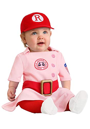 A League of Their Own Dottie Costume for Infants 12/18 Months Pink