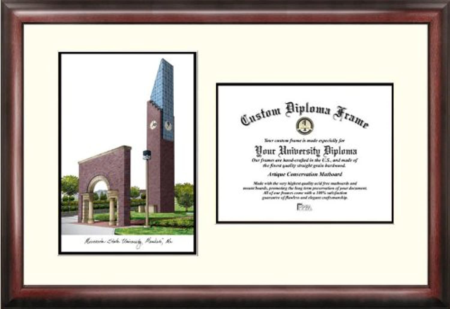 Campus Images  Minnesota State University Mankato  Scholar Diploma Frame, 8.5  x 11