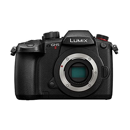 Panasonic Lumix GH5M2 | Appareil photo Hybride Expert (Capteur 4 3 20.3MP, Double stab., Écran orient. tact., AF DFD 225 Zones, C4K 60p 4:2:2 10bit, Live Stream., Tropicalisé) Noir – Version Française
