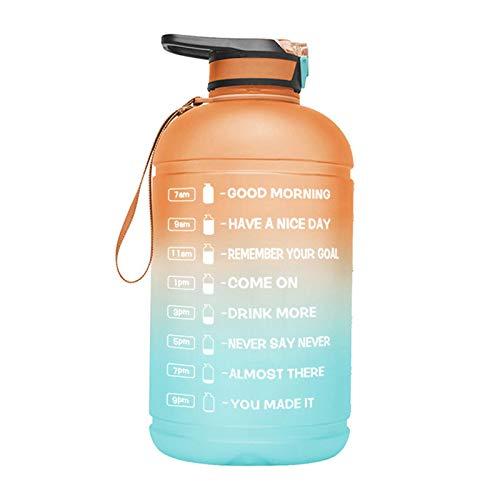 Botella Agua Deporte, Botellitas Agua, Botella De Agua Deportiva, 3.78L Water Bottle, Botella Agua Sin BPA Reutilizable Botellas De Agua Con Marcador De Tiempo Para Athletic, Bici, Gimnasio, Oficina