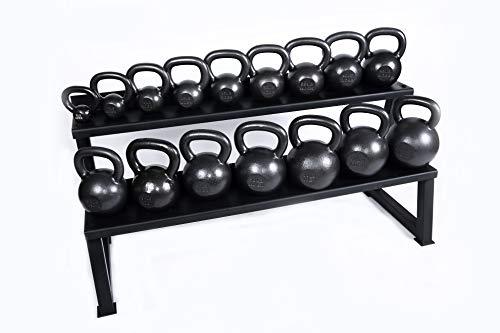 Ader Premier Kettlebell Set w/Rack & DVD- (5,10,15,20,25,30,35,40,45,50lb)