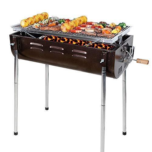 NEHARO Barbacoa portátil de Barbacoa de Barbacoa Grill Parrilla Grande de Acero Inoxidable Barbacoa Plegable Parrilla de carbón for Acampar al Aire Libre de la Comida campestre Picnic de jardín