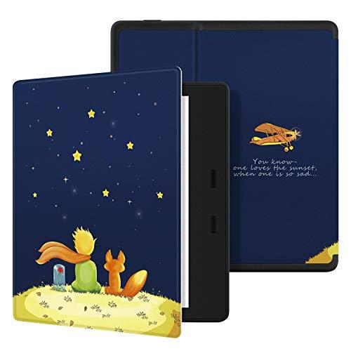 Ayotu 10th Generation Kindle Oasis Hülle (Modell 2019) & 9th Generation Hülle (Modell 2017), Honeycomb PU-Hülle mit automatischer Aktivierung/Deaktivierung,Der Junge & der Fuchs