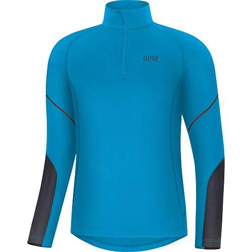 GORE WEAR M Herren Langarm-Shirt, L, Blau/Schwarz