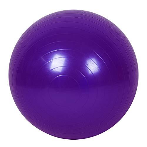 Hzb821zhup Pelota de yoga gruesa a prueba de explosiones, 45 cm, pelota de pilates, fitness, culturismo, entrenamiento, pelota de yoga inflable, color morado, tamaño talla única