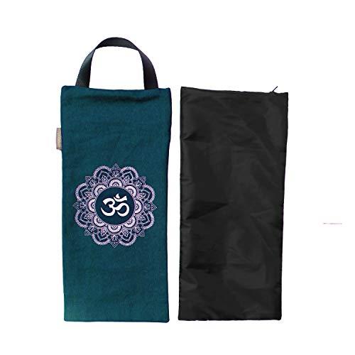 Yoga Sandsack – Baumwolle ungefüllt für Yoga Gewichte und Widerstandstraining, Farbe: grün, Größe: 19,1 x 43,2 cm