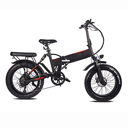 E-Bike, Elektrofahrrad, Klapprad Elektrisches, Maximale Fahrgeschwindigkeit 45KM/H, Für Reisen und tägliches Pendeln, Schwarz