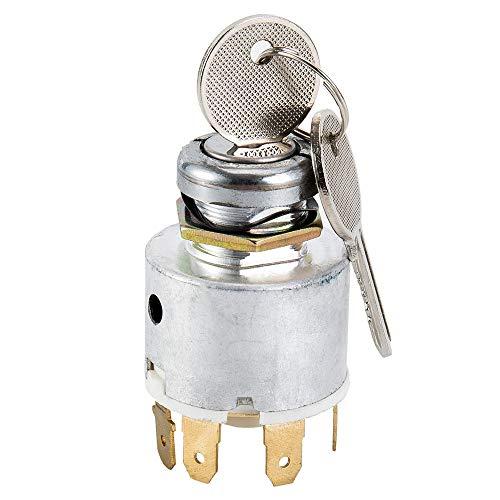 CAIZHIXIANG 12V Universal Interruptor de Encendido 2 Llaves - Interruptor del Coche del Barco Cortador de césped clásico de Encendido