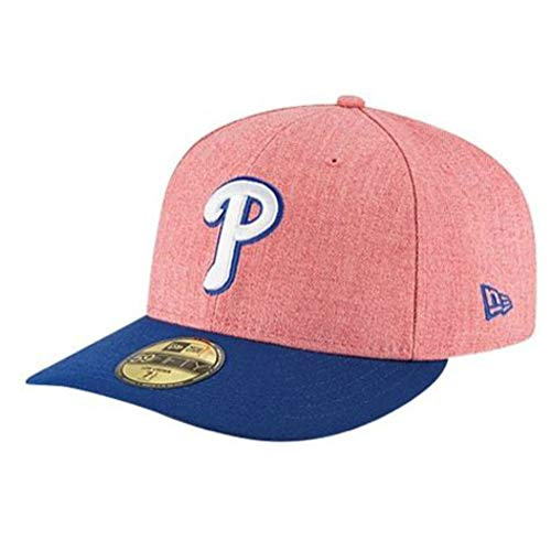 MLB Philadelphia Phillies Change Up Low Crown 59FIFTY Fitted Cap, 7 1/8, Scarlet