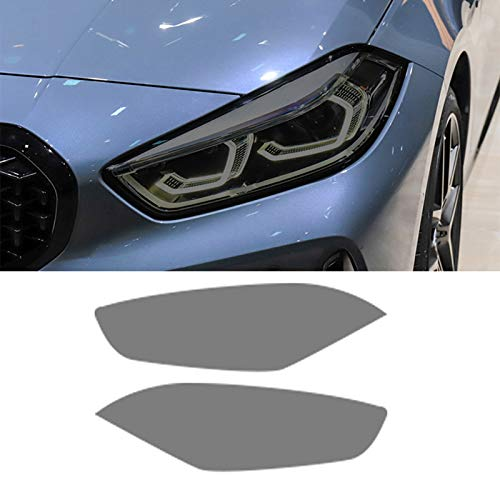 Adesivo in TPU Nero Trasparente per Fari per Auto da 2 Pezzi per BMW Serie 1 F40 M135I 118