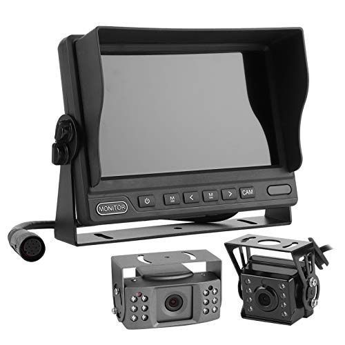 Kit De Monitor De Estacionamiento, Cámara De Salpicadero De Respaldo De 1080P, Electrónica De Automóvil Con Control Remoto De 2 CC Dividida 12-32V Para Sistema De Cámara De Respaldo De