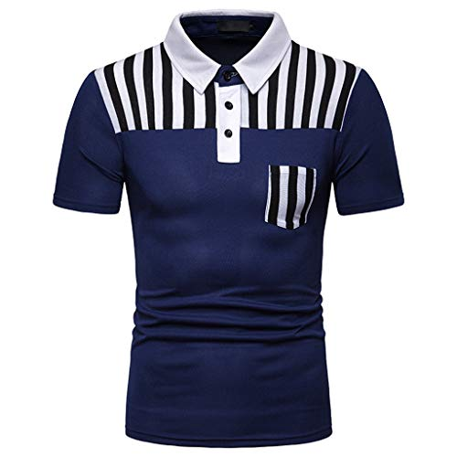 Azruma Herren Poloshirt Basic Kurzarm Polohemd Slim Fit Revers Shirt Polo-Shirts urzärmliges T-Shirt Geschäft Freizeit Shirt Classic Kurzarmhemd S-2XL