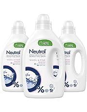 Neutral Wasmiddel Fijne Was Parfumvrij 3 x 1 L Voordeelverpakking