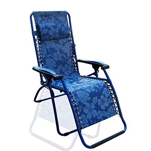 Chaise Longue Chaise Pliante/Chaise Longue De Bureau Nap/Balcon Maison Chaise Pliante Confortable Et Inclinable Chaise Longue De Plage Portable (Couleur: Bleu)