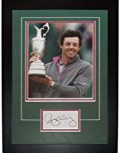 Rory McIlroy Autographed Signed Auto 2014 British Open Trophy Signature Series Frame - Certified Authentic