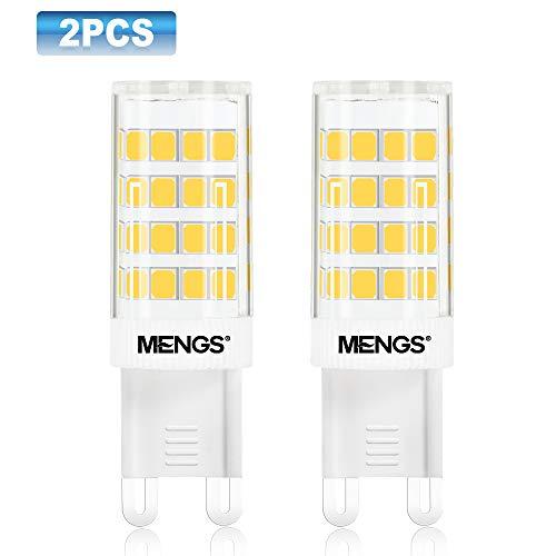 MENGS 2-er Pack 5W G9 LED Glühbirne 480lm 3000K Warmweiß AC 220-240V LED G9 Leuchtmittel Ersatz 40W Halogen Glühbirne 2835 LEDs geeignet für Büro, Wohnzimmer, Geschäft Nicht dimmbar