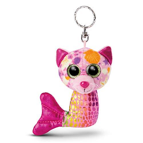 NICI 46821 Original-Glubschis Schlüsselanhänger Meerjungfrau Katze Aqua-Marie 11cm-Plüschtieranhänger mit Schlüsselring, Stofftierschlüsselhalter