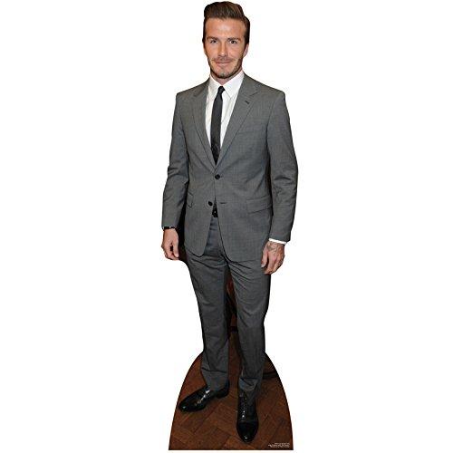 Unbekannt 179 x 54 cm großer Pappaufsteller des Fußballers und Styleikone David Becks Beckham