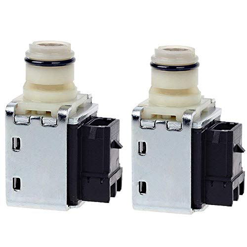 4L60E Transmission Shift Solenoid Valve Set for GM Chevrolet Buick Transmission 1-2 2-3 A & B Shift Replace 24230298 OEM (2pcs) by TOPEMAI