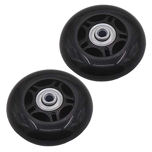 Leen4You Luggage Suitcase Replacement Wheels with Screws Axles Repair Tool for Luggage Suitcase Trolley,Skate Replacement Wheels(Pack of 2) (70mm x 24mm x 6mm)