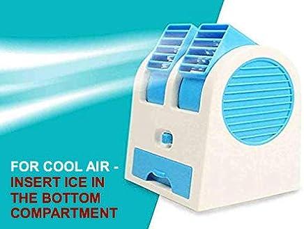 Bulfyss Mini USB Fragrance Air Cooling Fan Portable Desktop Dual Blower Bladeless Air Cooler - Assorted Color
