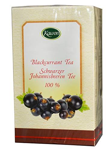 Schwarze Johannisbeeren Tee, 20x3g, 60g, reich an Vitamin C, Rutin, Flavonoiden, Stärkung immunsystem abwehrkräfte stärken, kräftigen Tee ohne künstliche Aromastoffe, erkältungsmittel