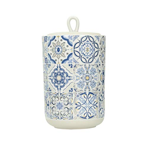 Dekoria Casa Decor Blue - Contenitore in ceramica da 950 ml, con coperchio