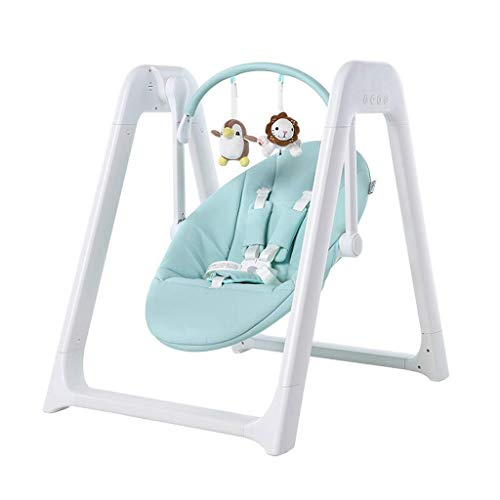 Wghz 2 In 1 Baby Cradle Swing Electric Stand, Baby Crib Cradle Auto Rocking Chair Newborns Sleep Bed, Rocking Music Remoter Control Sleeping Basket Bed