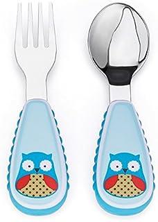 美国 SKIP HOP 可爱动物园餐具叉和勺 猫头鹰SH252353