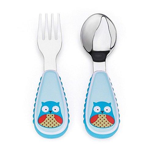 Skip Hop Zoo - Cubiertos, diseño owl, color azul
