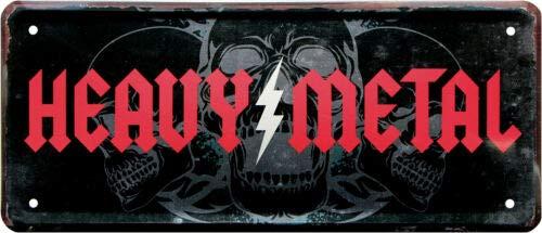 Cartel de chapa Heavy Metal 28 x 12 cm, 1964