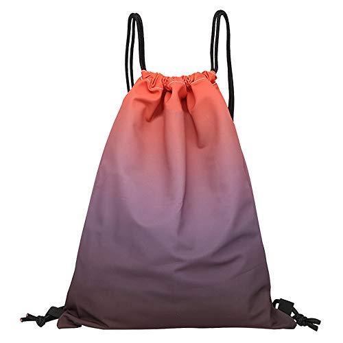 X-BLTU Mochila con Cordón Unisex, Bolsa de Cuerda de Color Degradado Arco Iris Mochila de Gimnasio para Senderismo Playa Yoga Baile