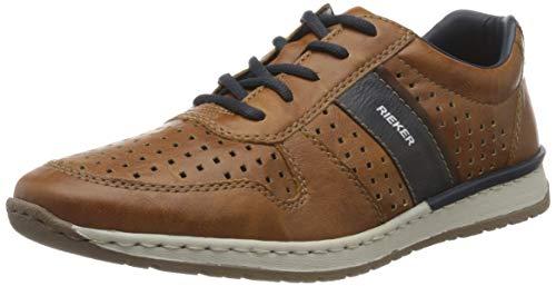 Rieker Herren Frühjahr/Sommer B5135 Sneaker, Braun (Sherry/Atlantic/Wood 25), 45 EU