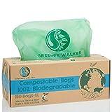 Greener Walker 100% compostabile biodegradabile 6L Sacchi per Rifiuti Alimentari da Cucina...