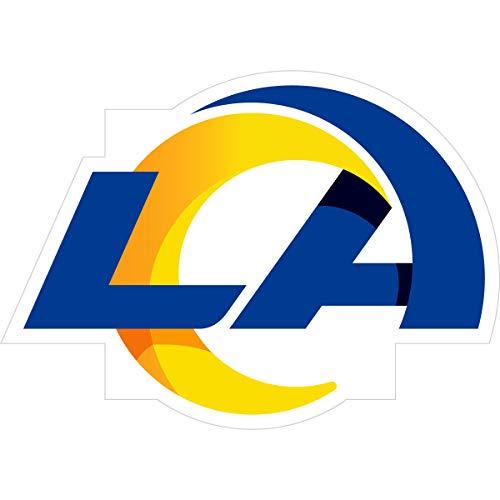 NFL Siskiyou Sports Fan Shop Los Angeles Rams Logo Magnets 8 inch sheet Team Color