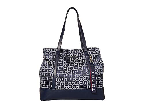 Tommy Hilfiger Lottie Jacquard Tote Navy/White One Size