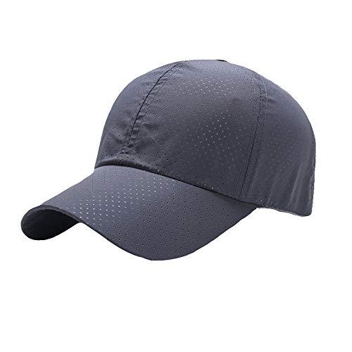 [FUPUONE] 帽子 ジョギング用キャップ メッシュ 吸湿速乾 ランニングキャップ 6カラー (グレー)