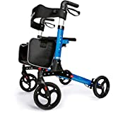 OasisSpace Ultra Folding Rollator Walker with Wide Seat...